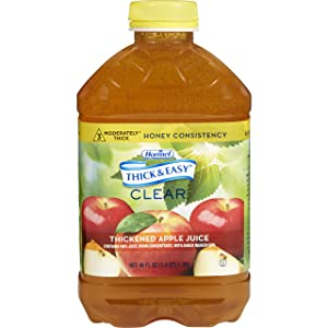 Thick & Easy Thickened Beverage 46 oz. Bottle Apple Juice Flavor Ready to USe Honey Consistency, 30634 - Sold by: Pack of One