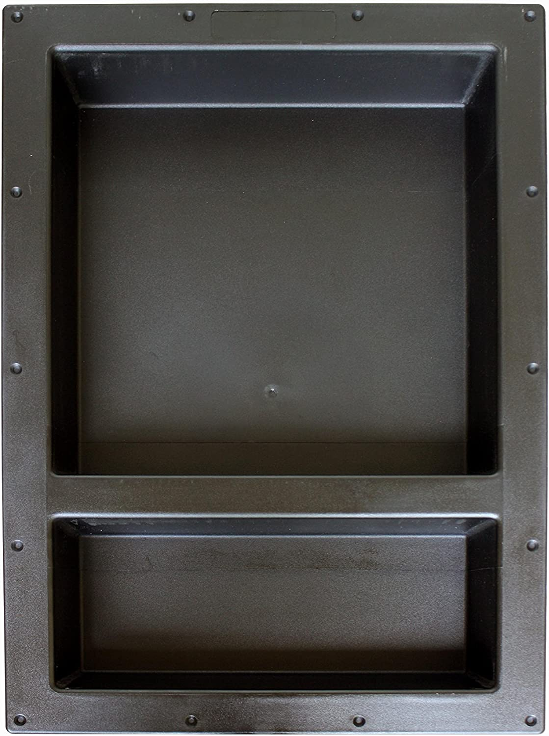 """Large Double Shelf Recessed Shower Niche, Ready to Tile, 25"""" x 17"""" x 3.75"""" by Novalinea…"""