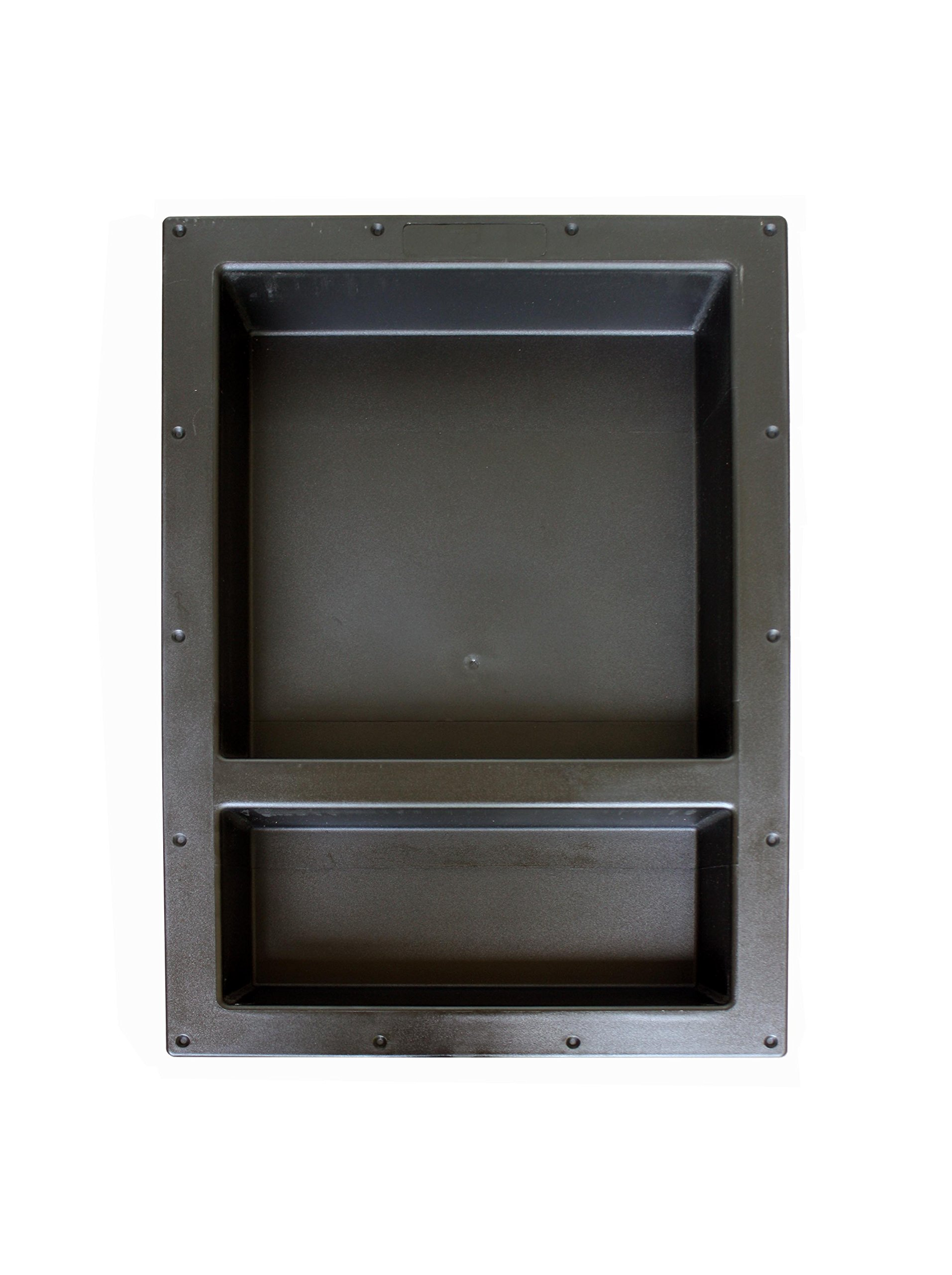 Large Double Recessed Shower Niche, Ready to Tile, 25'' x 17'' x 3.75'' by Novalinea