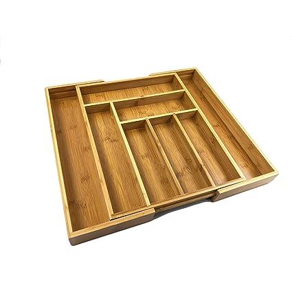 bamsira expandable kitchen drawer organizers for utensilsadjustable kitchen drawer dividers8 compartments - Kitchen Drawer Organizers