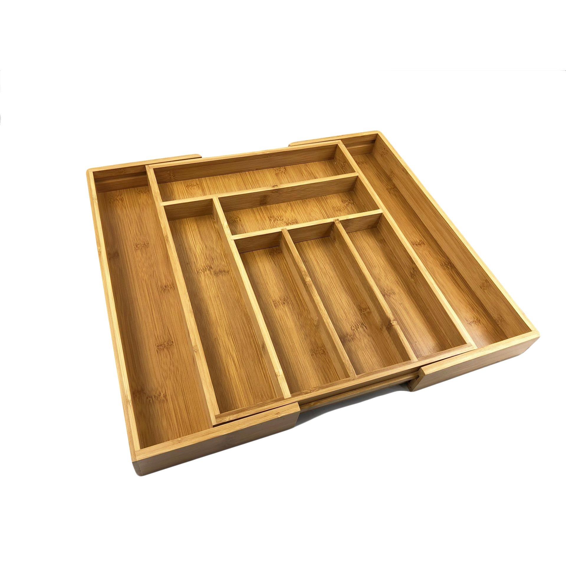 BAMSIRA Expandable Kitchen Drawer Organizers For Utensils,Adjustable Kitchen Drawer Dividers(8 compartments)