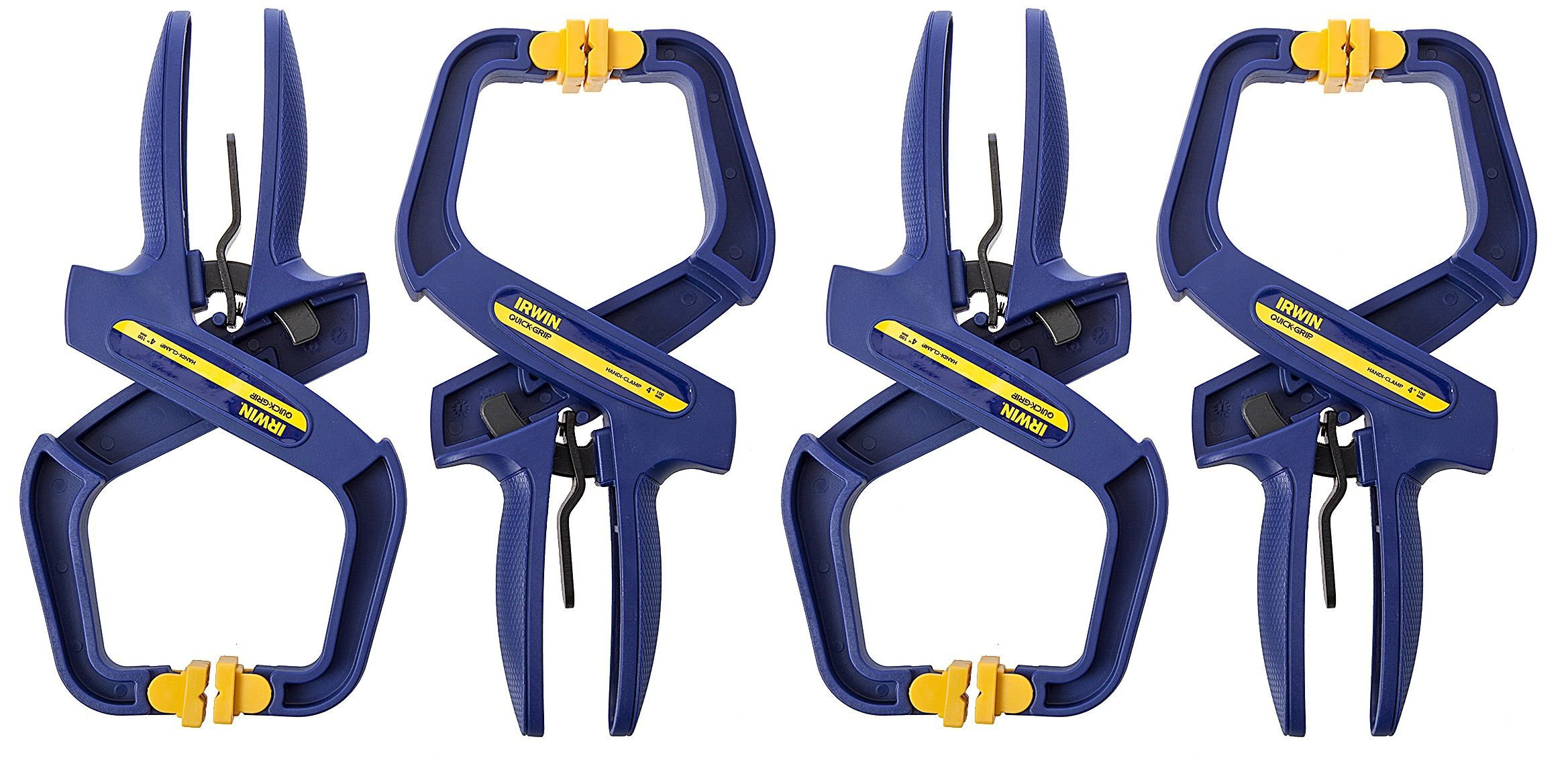 IRWIN Tools QUICK-GRIP Handi-Clamp, 2-Inch (4-pack Gift Set) by Irwin Tools