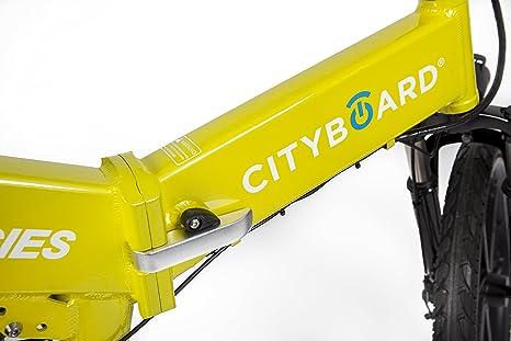 Cityboard Montaña Plegable E-Cies Bicicleta Eléctrica, Unisex Adulto, Amarillo, 20 Pulgadas: Amazon.es: Deportes y aire libre
