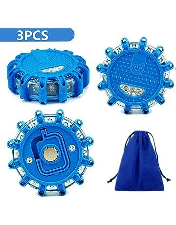 STARPIA 3pcs Luz de Advertencia LED, Luces de Emergencia Estroboscópica del Coche con Base Magnética&Bolsa