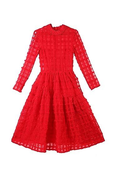 d72b4fffe36d Simone Rocha for Vogue Women's Net Empire Dress (VOGPP8_Red_Small ...