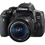 Canon EOS 750D Single Kit with EF-S 18-55mm f 3.5-5.6 is STM Digital Camera - SLR(750DKIS) 3Inch Display,Black