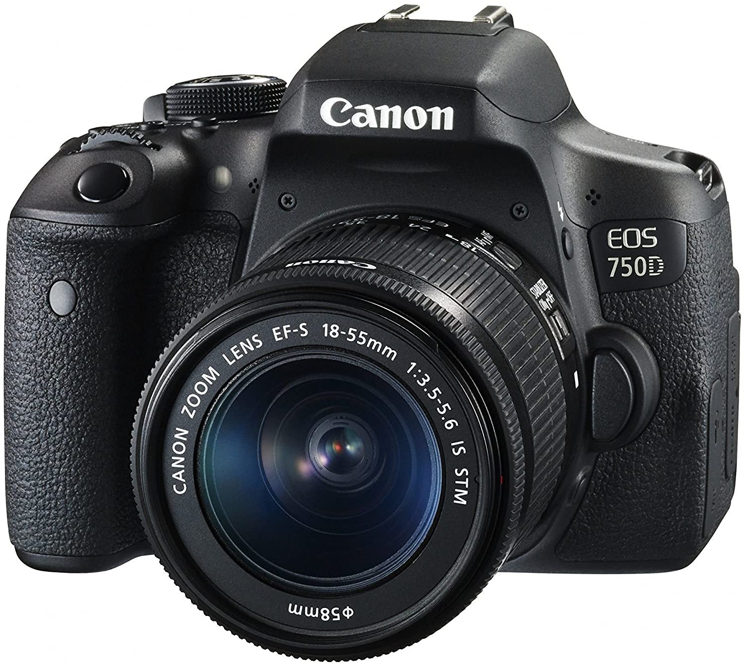 Buy Canon EOS 750D 24 2MP Digital SLR Camera Black 18 55 is STM Lens Memory Card Carry Bag line at Low Price in India
