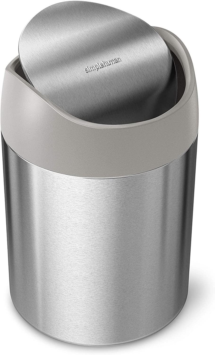simplehuman, Brushed Stainless Steel 1.5 Liter / 0.4 Gallon Mini Countertop Trash Can