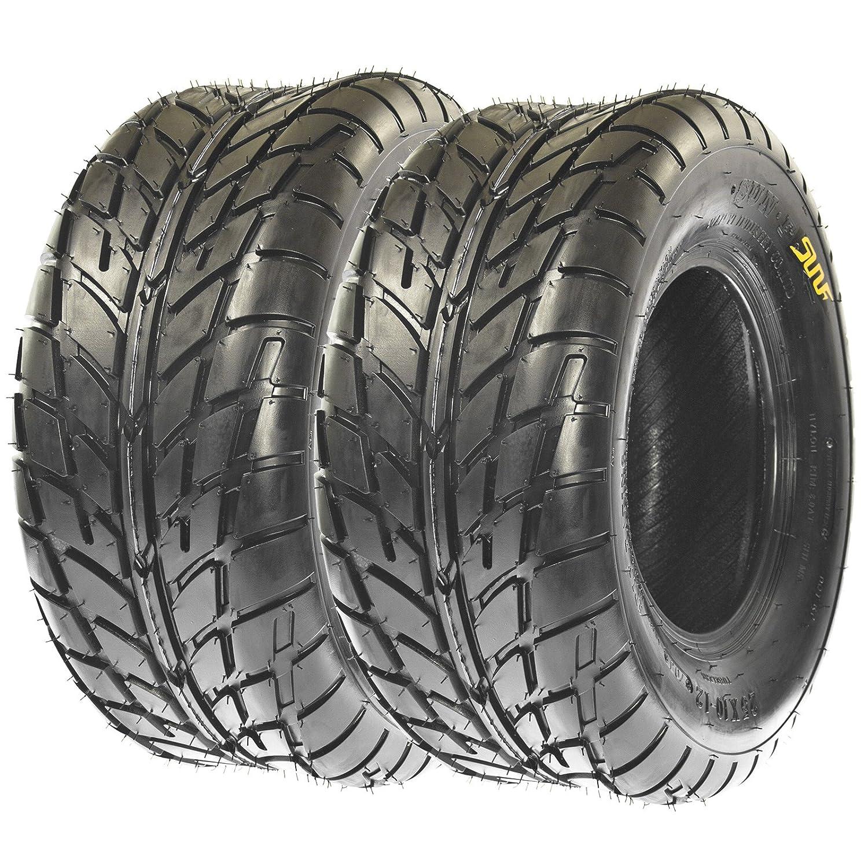 SunF 25x8-12 25x8x12 ATV UTV A/T Sport Race Replacement 6 PR Tubeless Tires A021, [Set of 2] LCF1|A021|250812||x2