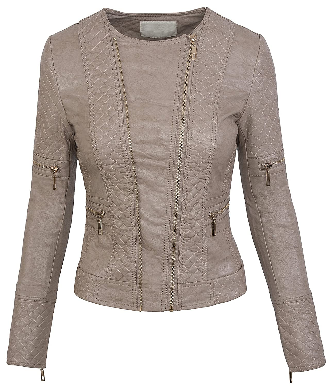Rock Creek Selection Donna Simil Pelle Giacca per Le Mezze Stagioni bikerkjacke Jacket Effetto Pelle S-XL