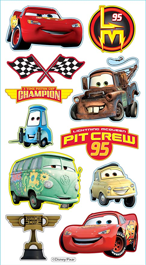 Disney pixar puffy stickers cars