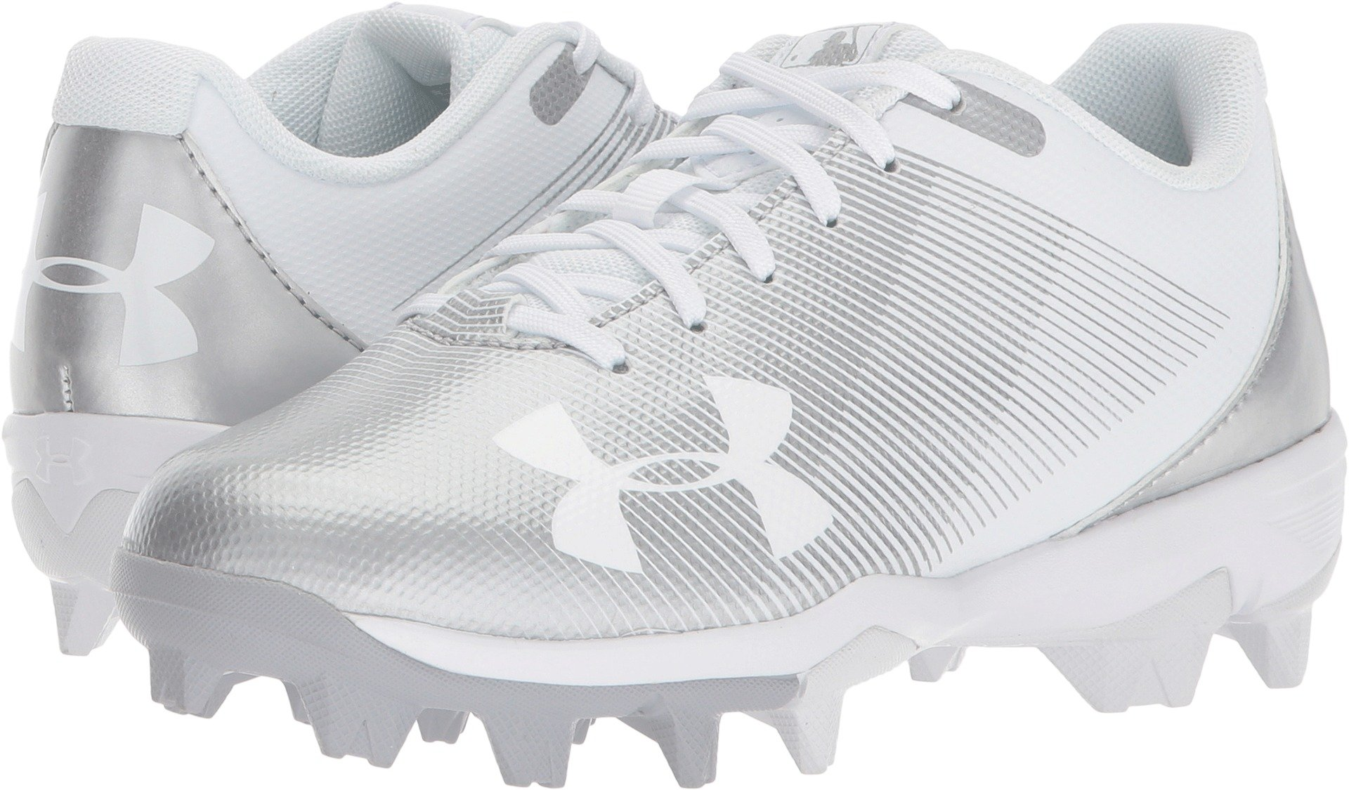 Under Armour Boys Leadoff Low Jr. RM Baseball Shoe, White (100)/White, Big Kid 6 US by Under Armour