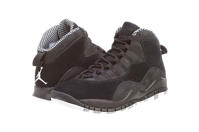 buy popular ce040 28ad5 Amazon.com   NIKE AIR JORDAN RETRO 10 MENS 310805-100 (8, WHITE   VARSITY  RED - BLACK)   Fashion Sneakers