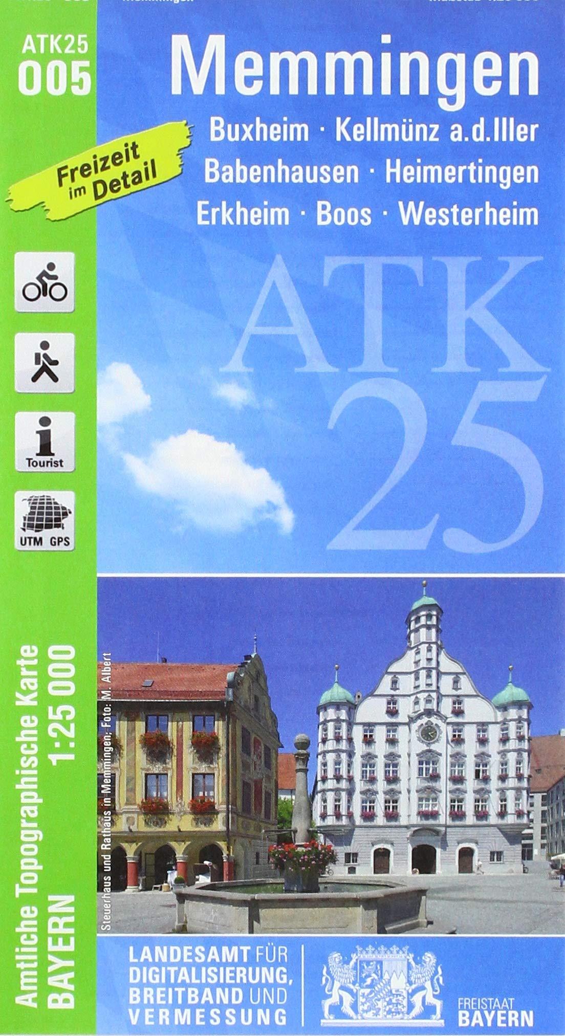Atk25 O05 Memmingen Amtliche Topographische Karte 1 25000