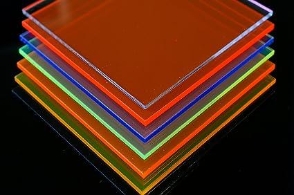 Plaque en verre acrylique Plexiglas/® 200mm x 300mm x 3mm, vert fluorescence // gr/ün en diff/érentes couleurs fluorescence In-outdoorshop Verre acrylique