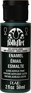 product image for FolkArt Enamel Glass & Ceramic Paint in Assorted Colors (2 oz), 4020, Hunter Green