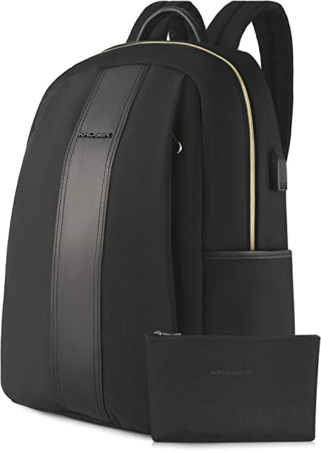 MI-Pac Classic Zaino-tutto nero con scomparto per computer portatile