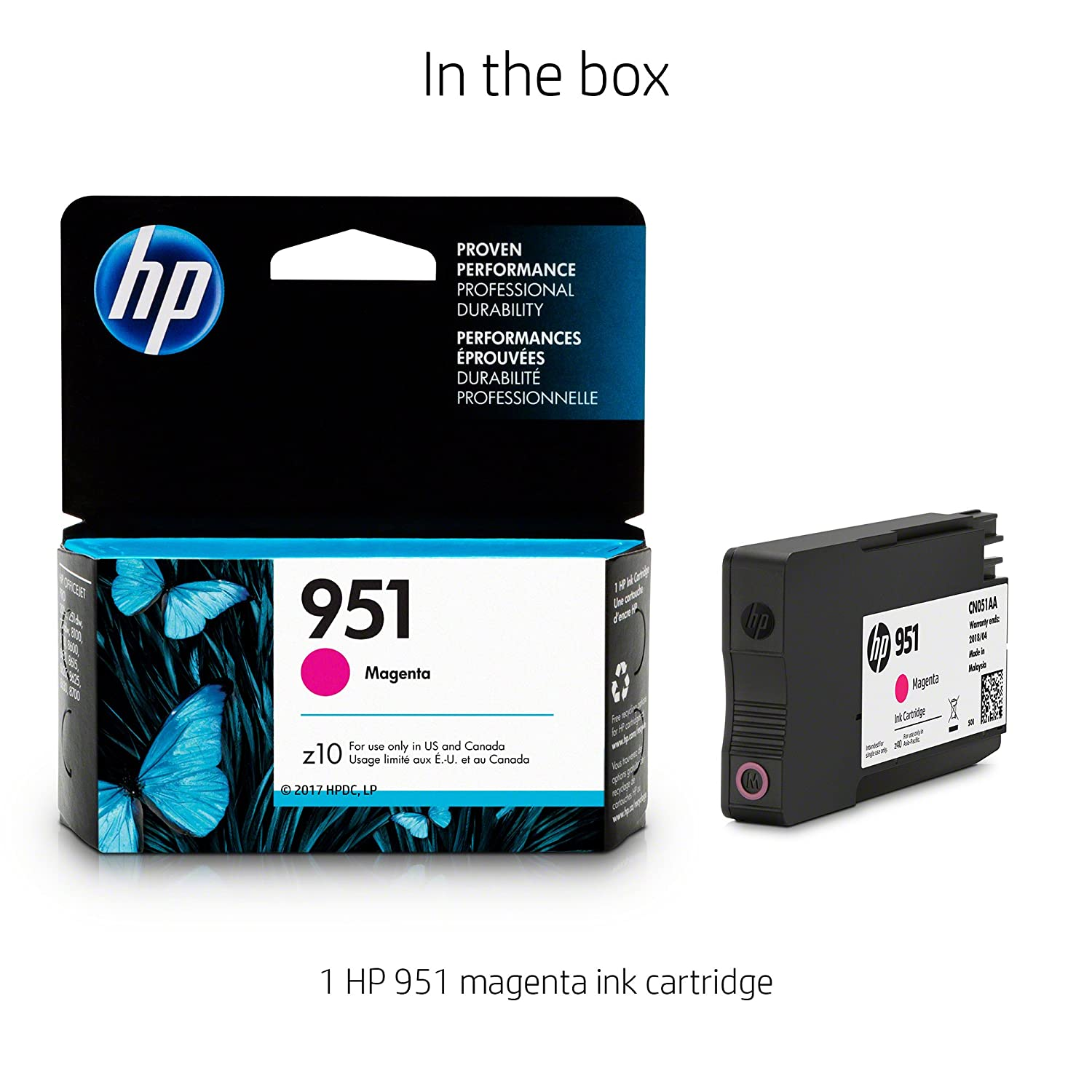 Amazon HP 951 Magenta Original Ink Cartridge CN051AN Office Products