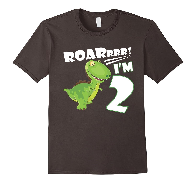 2nd Birthday Shirt Dinosaur Gift T For 2 Year Old Boy Gm