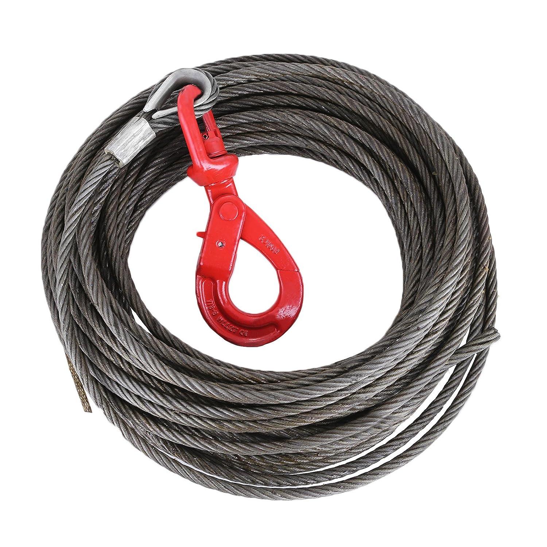 """Amazon.com: LOVSHARE 3/8"""" 100 FT Wire Rope 2T Steel Core Fiber Core ..."""