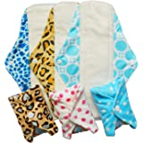 LBB Reusable Bamboo Mama Cloth Menstrual Pads/Sanitary Pads/Panty Liners 12 Inch,6 pads pack