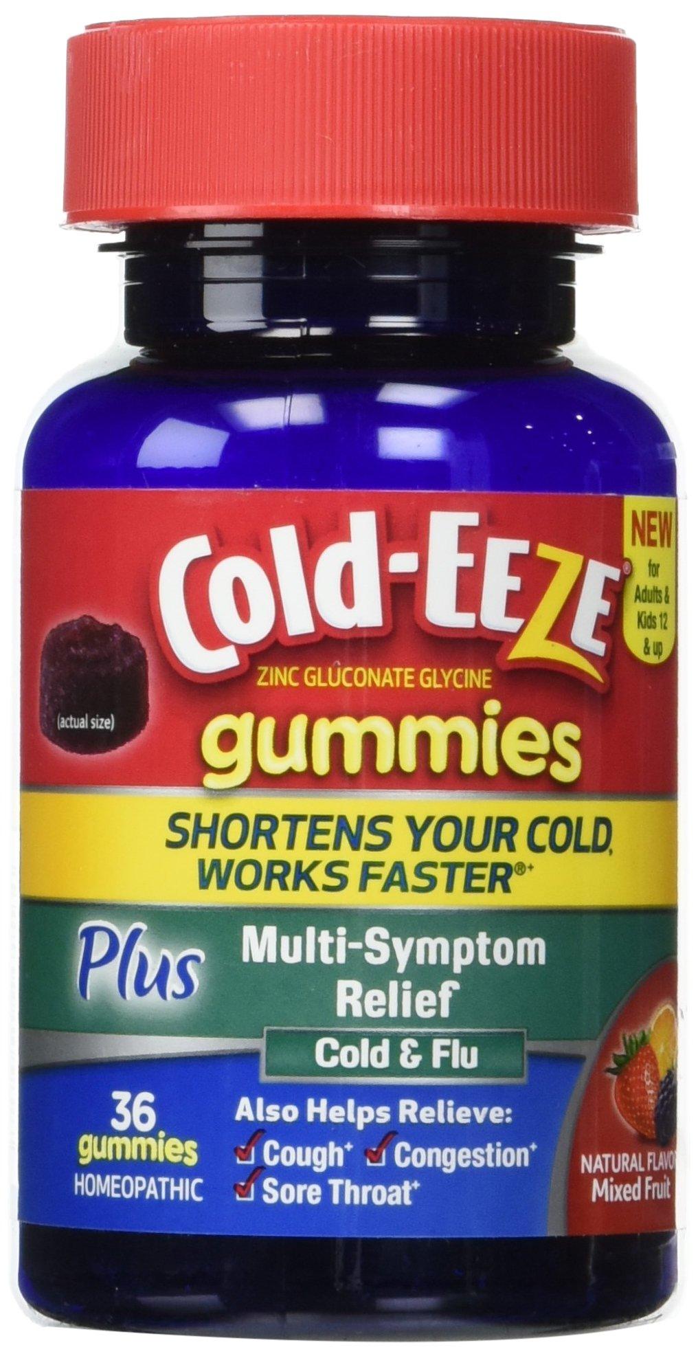 Amazon Com Cold Eeze Cold Remedy Plus Multi Symptom Relief Gummies