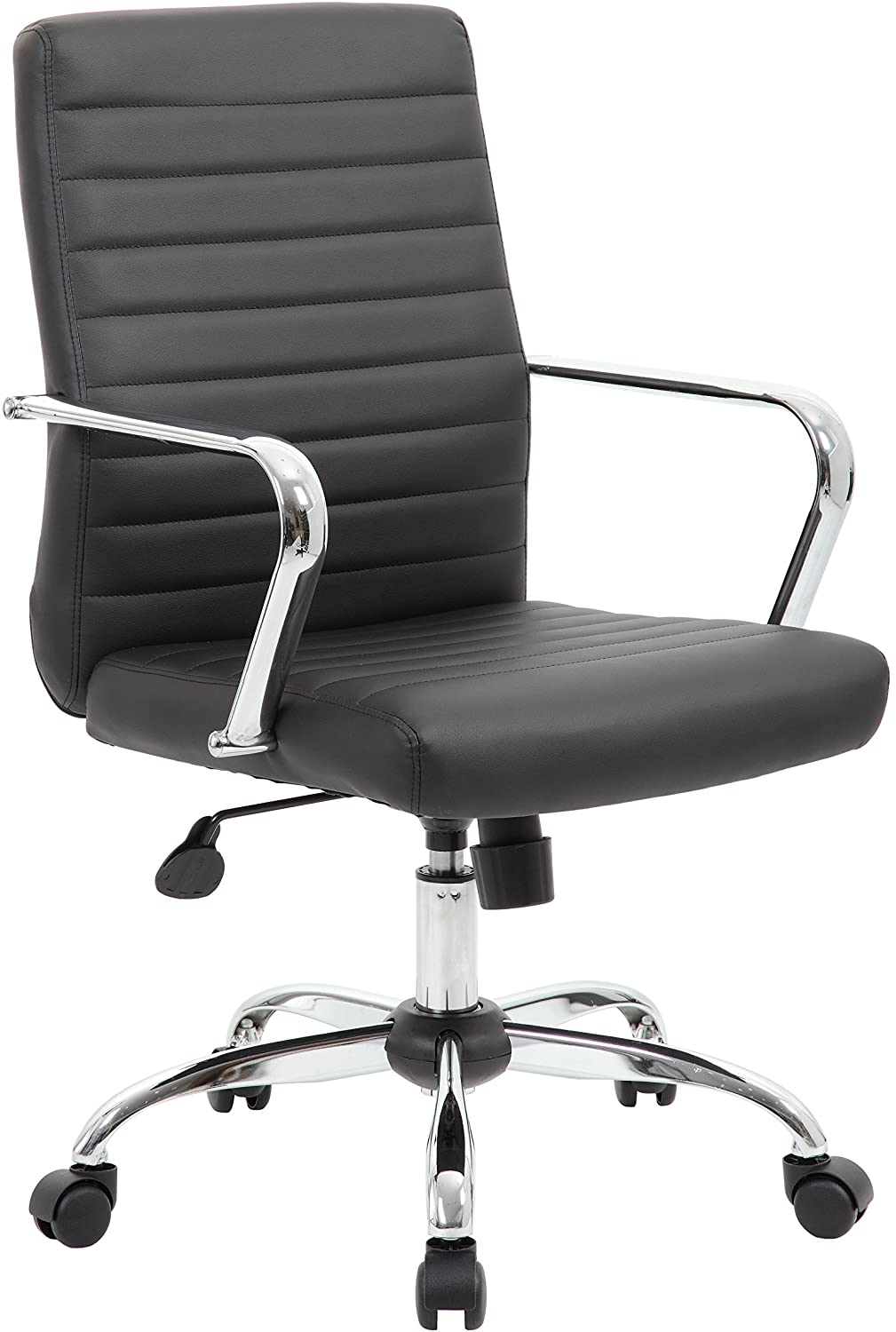 Boss Office Products Retro Task Chair Fixed Arms, Black