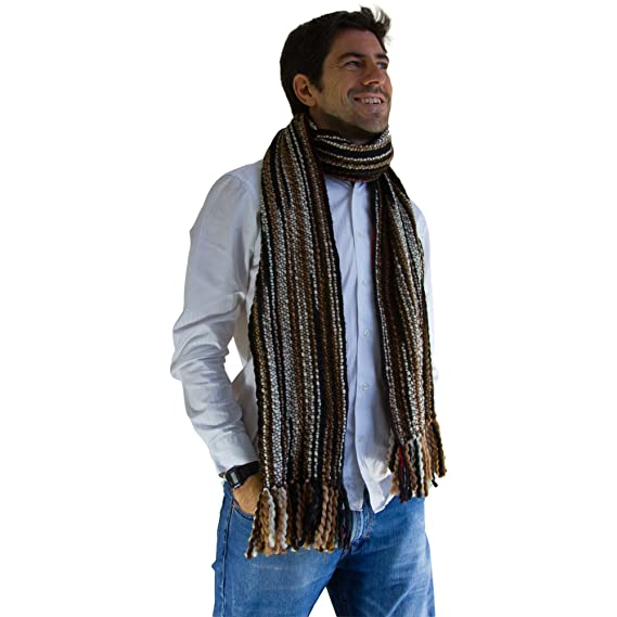 5fd97d5adcff Men s and Women s Winter Striped Thick Extra Long Luxurious Large Scarf