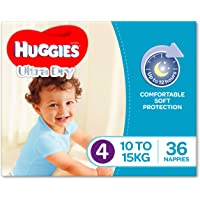 Huggies Ultra Dry Nappies, Boys, Size 4 Toddler (10-15kg), 36 Count