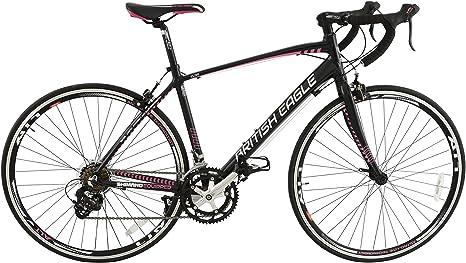 British Eagle Elise - Bicicleta de Carretera, Color Negro/Rosa, Talla 12 años: Amazon.es: Deportes y aire libre