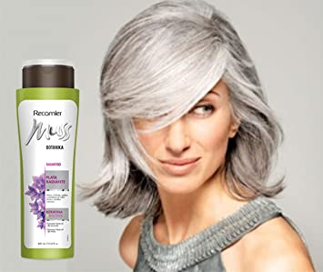 MUSS BOTANIKA PLATA RADIANTE SHAMPOO / Grey hair color care shampoo 400gr/ 13.53oz