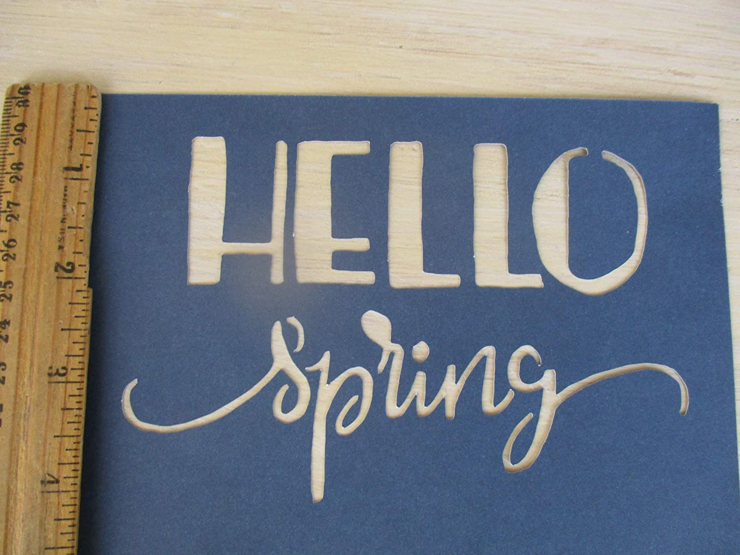Amazon com: Vintage look HELLO SPRING new calligraphy spring old