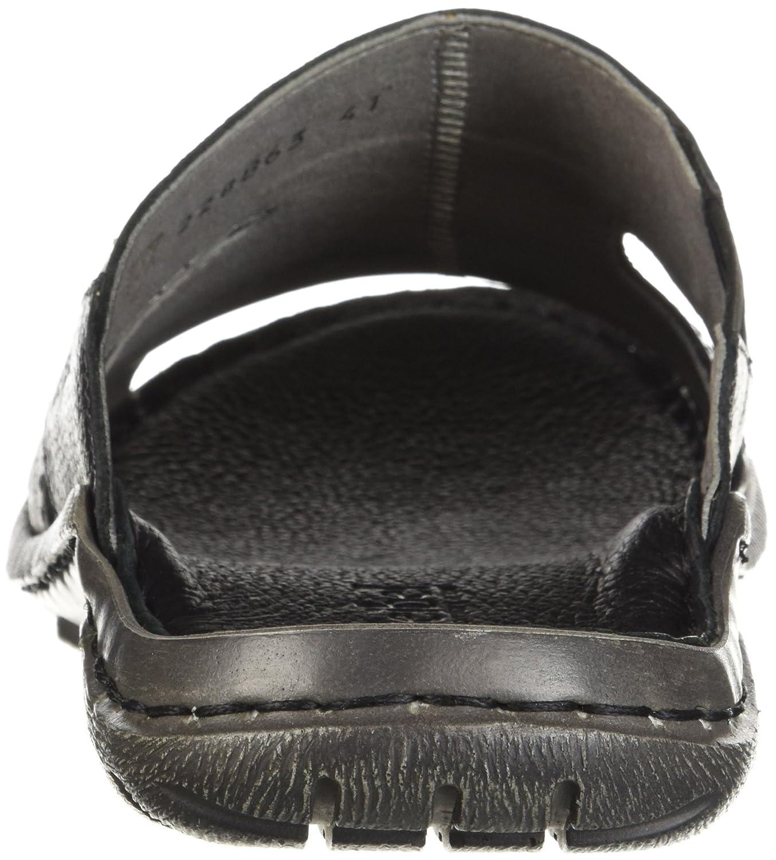 Josef Seibel Medium Men's Logan 38 Slide Sandal 41 Medium Seibel US|Black B076RCLW28 d2fb54