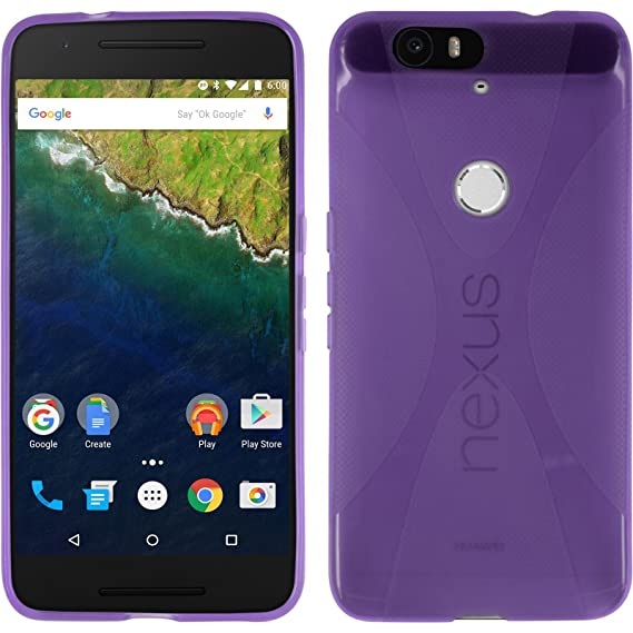 online store 1ddd0 a3ff6 Amazon.com: Silicone Case for Google Nexus 6P - X-Style purple ...