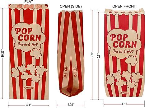 Amazon.com: Bolsas de palomitas de maíz estilo retro vintage ...
