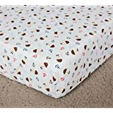 Baby boy Caribbean Pirates Crib Bedding fitted sheet