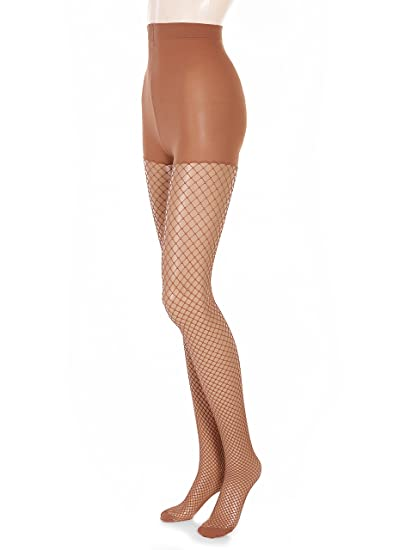 6c2210d9041 Glamory Women s Mesh Plus Size Tights at Amazon Women s Clothing store