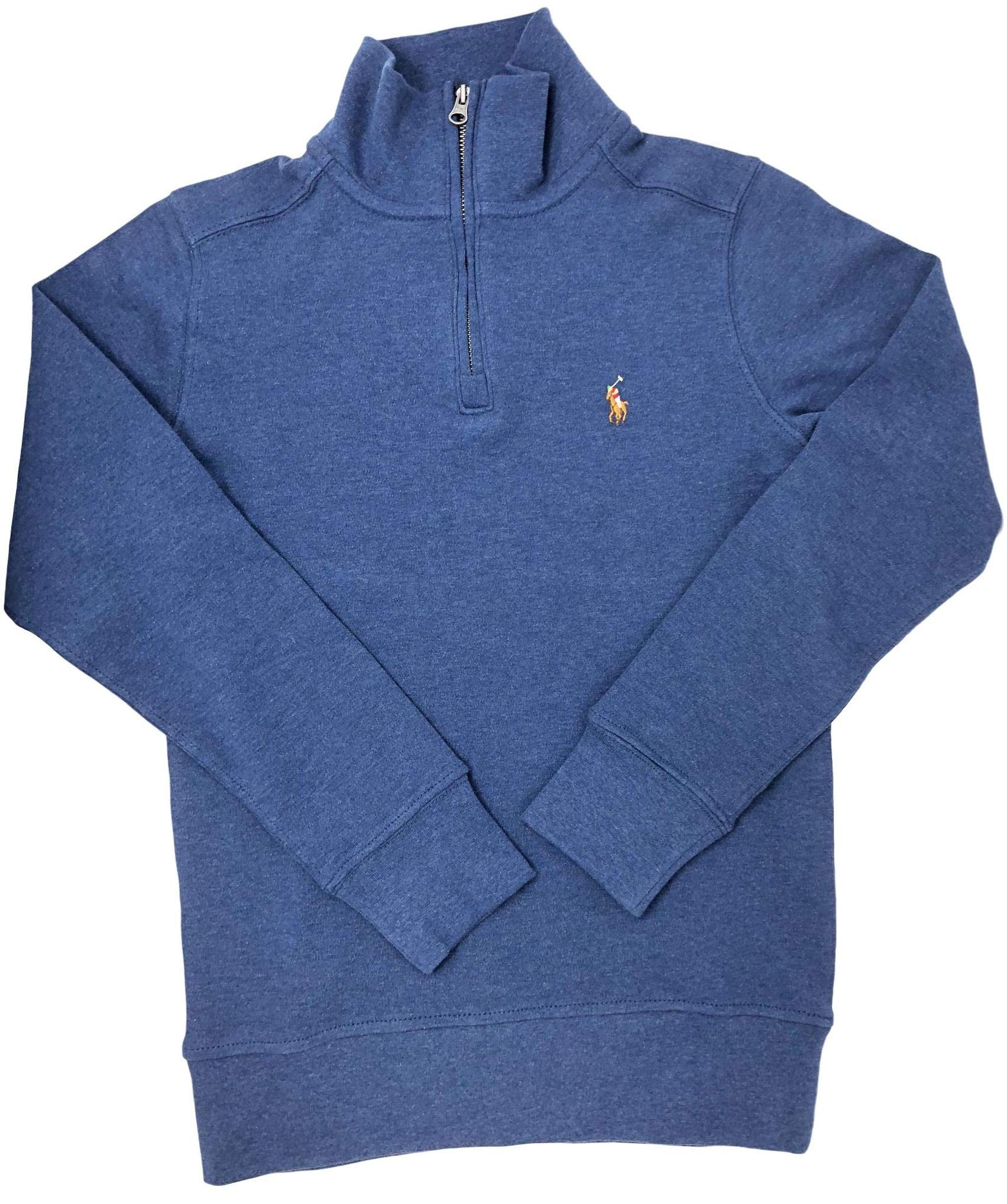 Ralph Lauren Half-Zip Cotton Pullover, Big Boys NavyHth (M)