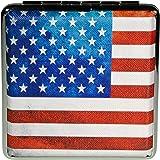 Simone Erto Zigarettenetui USA Flagge f/ür 18-20 Zigaretten Damen wei/ß