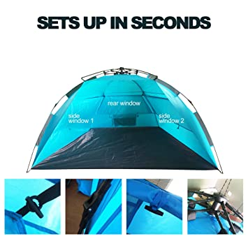 Half Dome Lightweight Easy Setup Beach Tent By DFeVENTURES | Windproof Waterproof u0026  sc 1 st  Amazon.com & Amazon.com: Half Dome Lightweight Easy Setup Beach Tent By ...
