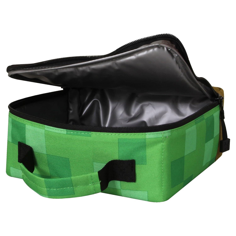7f69c8bbf2 JINX Minecraft Lunch Box Insulated Creeper Block Bag For Boys Girls Kids  Adults