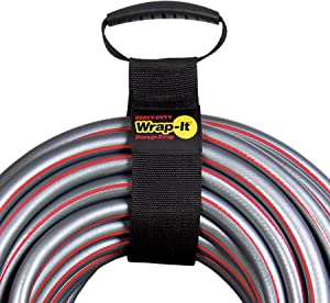"Easy-Carry Wrap-It Storage Straps - 28"" (2 Pack) – Heavy-Duty Hook and Loop Cord Carrying Strap, Hanger, and Organizer with Handle for Pool Hoses, Garden Hoses, Cords, Cables and More"