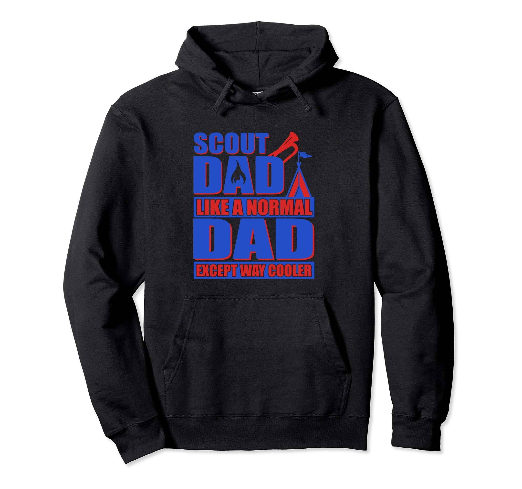 Scout Dad Cub Camping Scouting Leader Boy Gift Hiking Hoodie by Scouting Shirts By Ark