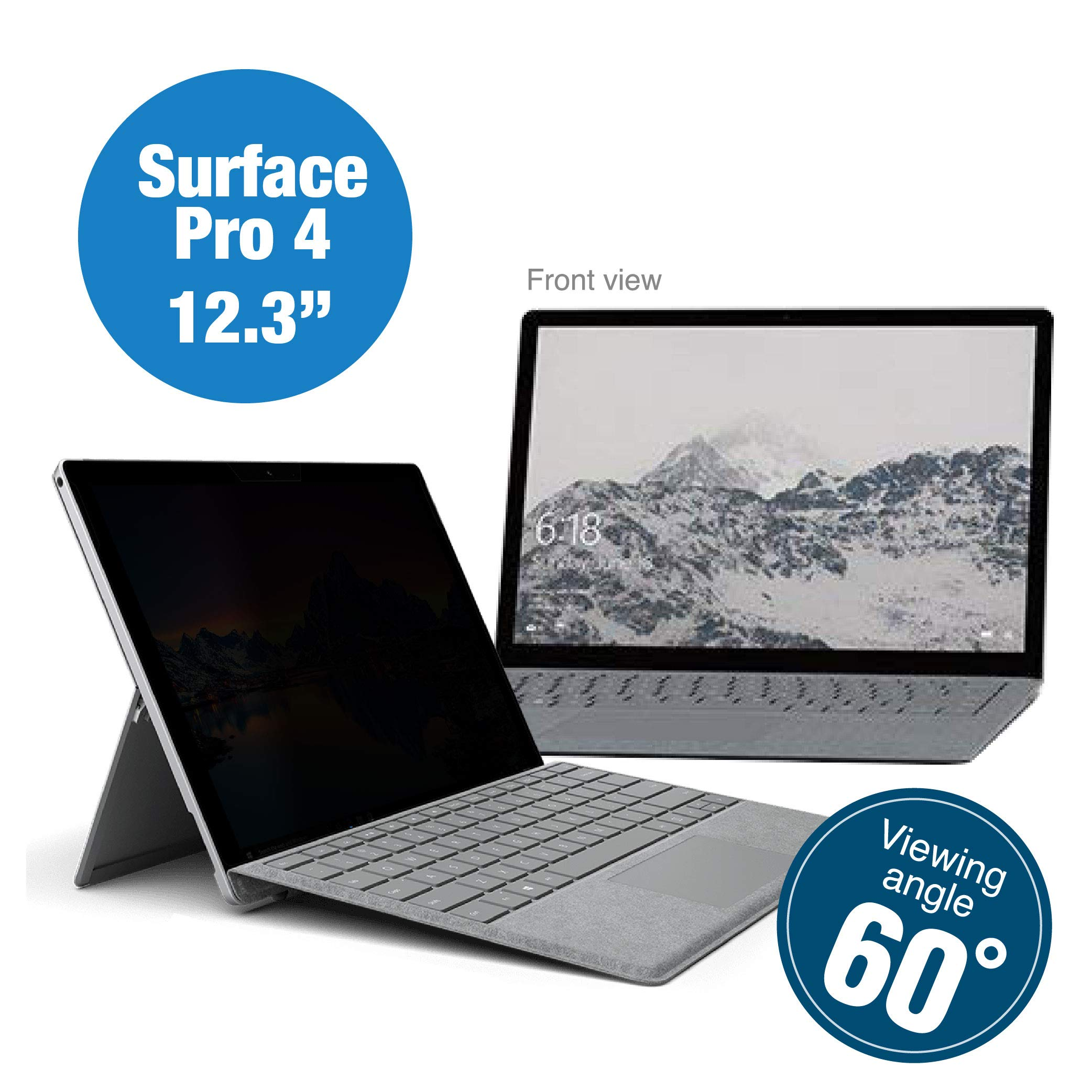 KAEMPFER Anti-Blue Light Privacy Screen Protectors Filter for Microsoft Surface Pro 4/5 (11.35''x7.78''/288.4x197.7mm) by KAEMPFER (Image #1)