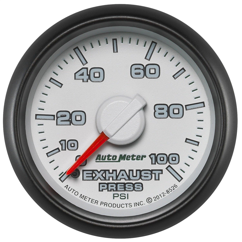 Auto Meter (8526) Dodge Match 2-1/16'' 0-100 PSI Mechanical Exhaust Pressure Gauge