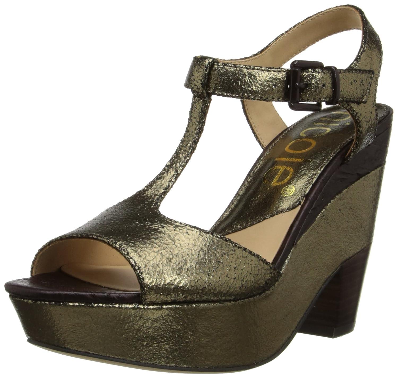 nicole Women's Gerry Wedge Sandal B00HRNI0TG 7.5 B(M) US|Pewter