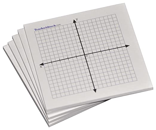 Amazon.com : Sticky Note Mini Graph Pads - 10 Count - Graph Paper ...