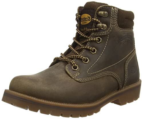 Dockers 35AA202 - Botas de Cuero para Mujer, Color marrón, Talla 36