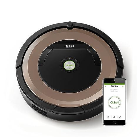 iRobot Roomba 895 - Robot Aspirador Óptimo para Mascotas, Succión 5 Veces Superior, Cepillos de Goma Antienredos, Dirt Detect, Suelos Duros y ...