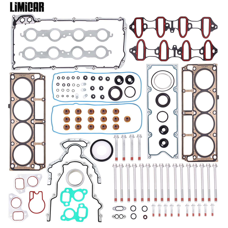 LIMICAR Engine Oil Pan Gasket Set OS30693R Compatible with 1997-2011 Avanti Buick Cadillac Chevrolet GMC Hummer Isuzu Pontiac Saab